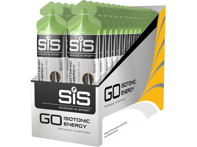 SiS GO Isotonic Energy Gel Box 30x60ml, Apple